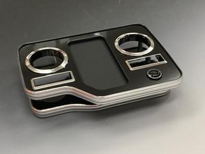 BUSSELL USB急速充電ポート付き フロントセンターコンソールテーブル H200系ハイエース(標準ボディ・ワイドボディ共通)
